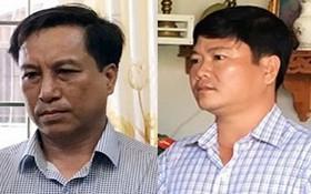 茶榮市人委會原主席葉文盛(左圖)與茶榮市人委會副主席陳長山。(圖源:達仁)
