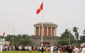 從上月31日至本月2日,逾5萬人次晉謁胡志明主席陵。(圖源:互聯網)