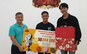 大發餅家總經理許玉林頒發特別獎。