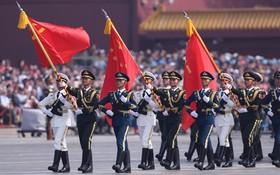 在北京天安門廣場隆重舉行儀仗隊檢閱儀式。(圖源:互聯網)