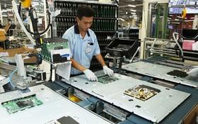 三星電子公司的生產線。