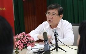 市人委會主席阮成鋒:絕不對違反建築秩序行徑讓步而須作出嚴懲。(圖源:PLO)