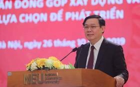政府副總理王廷惠在科研會上發表講話。(圖源:清孟)