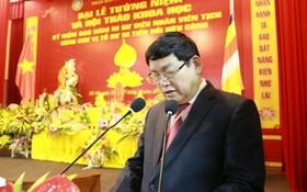 政府宗教處常務副主任裴清河會上發言。(圖源:覺悟報)