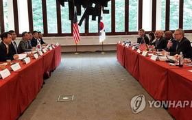 當地時間10月23日,在美國夏威夷檀香山,韓美為簽署第11份防衛費分擔特別協定舉行第二輪談判。 (圖源:韓聯社)