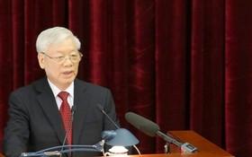 黨中央總書記、國家主席阮富仲在會議上致開幕詞。(圖源:范強)