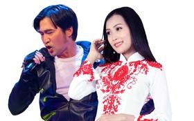 華人歌星畢寶藤(左)與孟紅兒合唱。