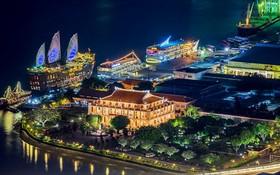 圖為西貢白藤碼頭夜景一瞥。(圖源:春阮)