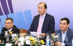 外交部副部長阮國勇在國際記者會上發言。(圖源:越通社)