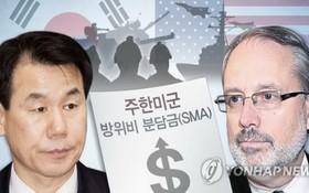 左圖為韓方首席代表鄭恩甫;右圖為美方首席代表詹姆斯·德哈特。 (圖源:韓聯社)