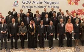 出席G20外長會議各代表合照留念。