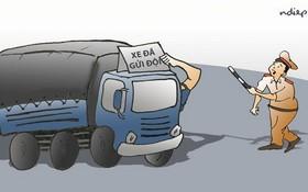 同奈省交警隊指控上級包庇超載車。(示意圖源:互聯網)