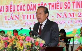 政府常務副總理張和平出席並發表指導大會。(圖源:孟雄)