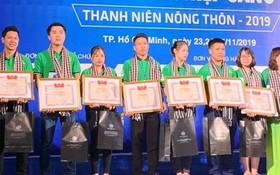 2019年農村青年有創意創業項目比賽頒獎儀式。(圖源:安然)