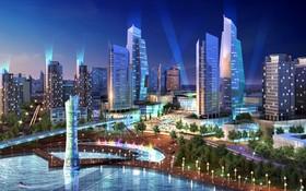 大都市內的金融中心配景圖。(圖源:VGSI)