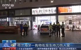 """11月29日感恩節""""黑色星期五""""到來之際,荷蘭第三大城市海牙鬧市區發生行兇事件,至少3人被刺傷。(圖源:CCTV視頻截圖)"""