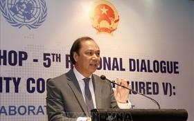 外交部副部長、越南東盟SOM秘書長阮國勇在會上致開幕詞。(圖源:越通社)