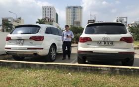 右邊奧迪 Q7 車子被懷疑偽造登檢證。(圖源:CTV)