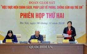 國會的民願委員會主任、監察團副團長阮清海在會議上作初步結果報告。(圖源:Quochoi.vn)