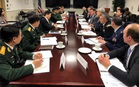 2019 年越美國防政策對話會議現場。(圖源:越通社)