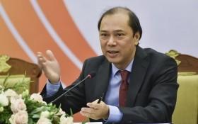 外交部副部長、2020年國家東盟委員會秘書長阮國勇在新聞發佈會上發言。(圖源:世界與越南新聞網)