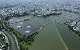 平興和生活廢水處理廠的處理湖。