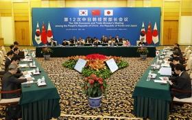 中日韓經貿部長會議現場。(圖源:互聯網)