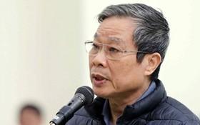 被告人阮北山在法庭上分別向黨中央總書記、新聞與傳播部及黨、國家與人民致歉。(圖源:越通社)
