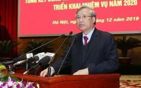 黨中央政治局委員、黨中央書記處常務書記陳國旺在會議上發表指導意見。(圖源:越通社)