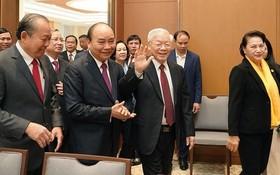 總書記、國家主席阮富仲出席會議。(圖源:VGP)