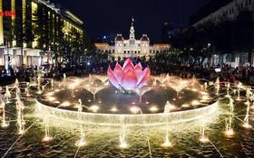 阮惠步行街的噴泉。(圖源:互聯網)