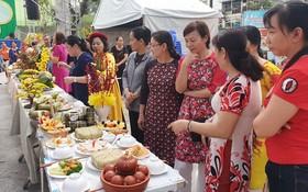 第五郡勞動聯團舉辦的春節食品裝飾比賽現場一隅。