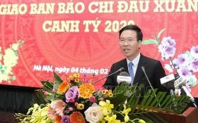 中央宣教部長武文賞出席會議並發表講話。(圖源:越通社)