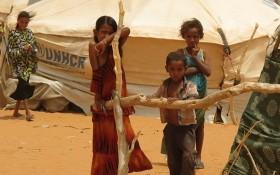 在薩赫勒地區國家遭受旱災的居民在當地的一處難民營裡。(圖源:WFP)
