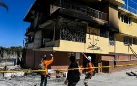 火警熄滅後的孤兒院外貌。(圖源:互聯網)