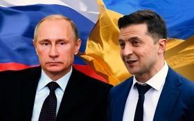 俄羅斯總統普京(左)與烏克蘭總統澤連斯基(右)。(圖源:互聯網)