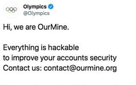 國際奧會(IOC)的推特帳號被入侵。(圖源:互聯網)