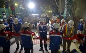 濱城-仙泉地鐵1號線項目全線貫通儀式現場一瞥。(圖源:越南信息網)