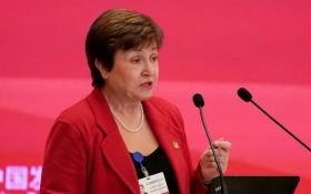 國際貨幣基金組織(IMF)總裁格奧爾基耶娃。(圖源:路透社)