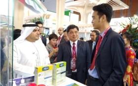 Vinamilk 在杜拜國際食品展會上推介新產品。