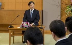 日本天皇德仁在居住的東京御所舉行記者會。(圖源:AP)