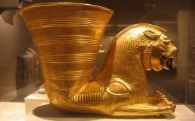 圖為伊朗古老文物來通杯。(示意圖源:互聯網)