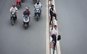 行人違規跨越街道將被罰款。(示意圖源:田升)