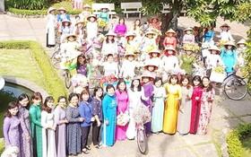 """第五郡越、華婦女會響應""""長衫-越南文化遺產""""活動。"""