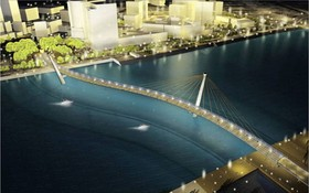 橫跨西貢河人行天橋建築設計圖。(圖源:互聯網)