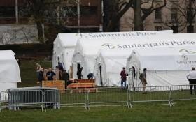 紐約中央公園搭建臨時醫院。(圖源:互聯網)