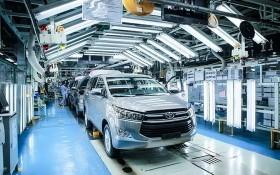 圖為越南豐田流水線組裝車間車廠。(圖源:黎娥)