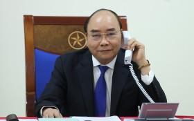 政府總理阮春福與澳大利亞總理莫里森通電話。(圖源:光孝)