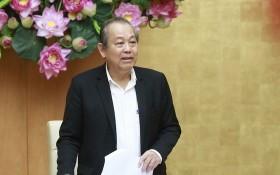 政府常務副總理張和平主持會議並發表講話。(圖源:黎山)