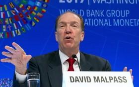 世界銀行行長馬爾帕斯。(圖源:互聯網)